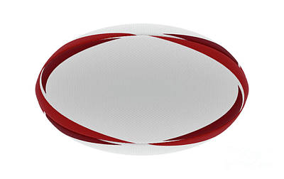Open Impressionism California Desert - Rugby Ball Red Design by Allan Swart