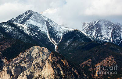 Steven Krull Royalty-Free and Rights-Managed Images - Rugged Peaks on the Sangre de Cristo by Steven Krull