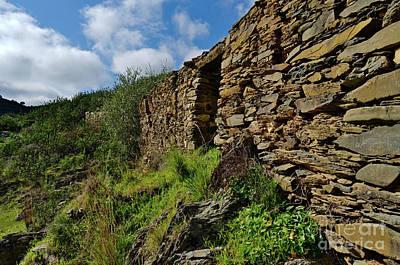 Ruins Of A Schist Cottage In Alentejo Art Print