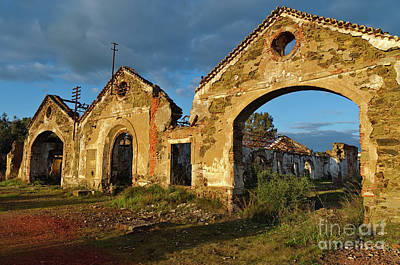 Ruins Of The Abandoned Mine Of Sao Domingos. Portugal Art Print