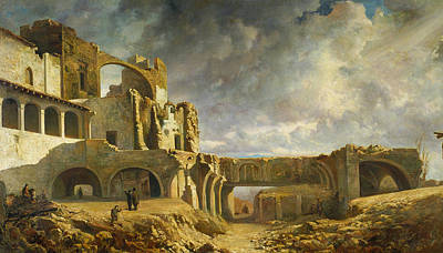 Painting - Ruins Of The Palace by Ramon Marti Alsina