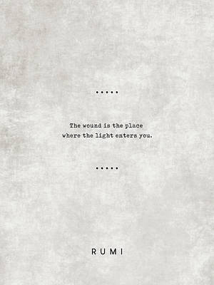 Royalty-Free and Rights-Managed Images - Rumi Quotes 15 - Literary Quotes - Typewriter Quotes - Rumi Poster - Sufi Quotes by Studio Grafiikka