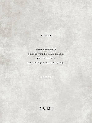 Royalty-Free and Rights-Managed Images - Rumi Quotes 18 - Literary Quotes - Typewriter Quotes - Rumi Poster - Sufi Quotes - Prayer by Studio Grafiikka
