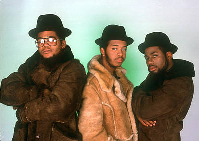 Photograph - Run Dmc Studio Portrait Session In Ny by Michael Ochs Archives