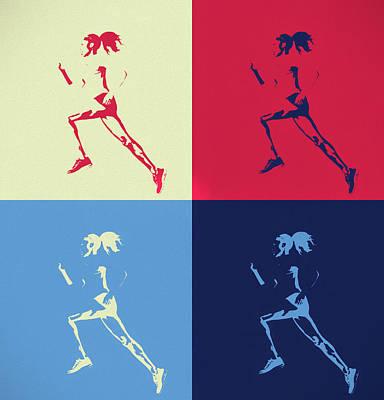 Mixed Media - Runner Pop Art by Dan Sproul
