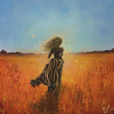 Painting - Running Girl by Sue Art studio