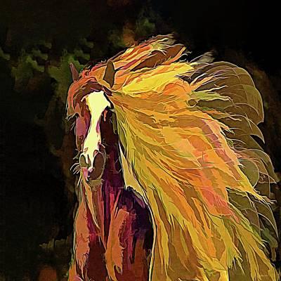 Keith Richards - Running Horse by OLena Art - Lena Owens