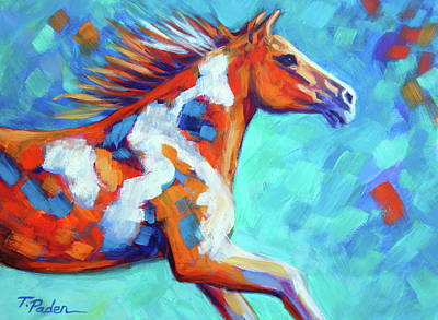 Wall Art - Painting - Running Paint by Theresa Paden