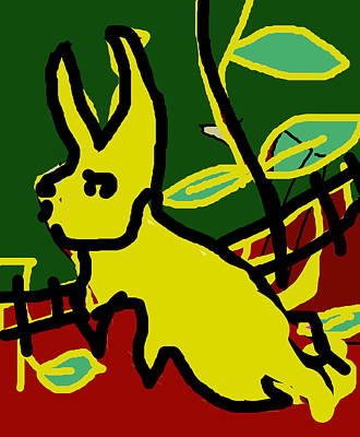 Digital Art - Running Rabbit by Artist Dot
