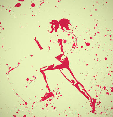 Painting - Running Woman Pop Art by Dan Sproul