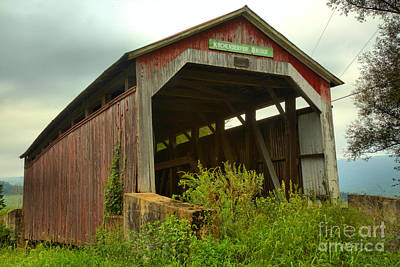 Photograph - Rural Kochenderfer Covered Bridge by Adam Jewell