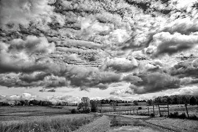 Photograph - Rural New Paltz Hudson Valley, Ny Bw by Susan Candelario
