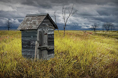 Photograph - Rural Outhouse Langishing In The Countryside by Randall Nyhof