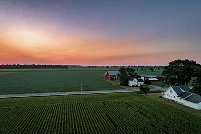 Photograph - Rural Pastel Sunrise by Nick Smith