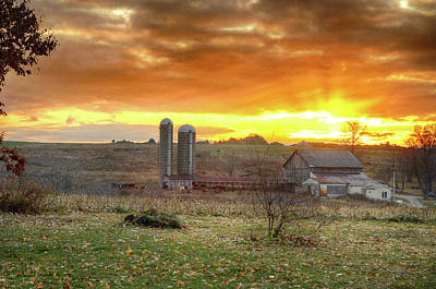 Photograph - Rural Sunset by Dan Urban