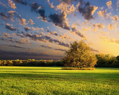 Rural Texas Autumn Sunset Art Print by Dean Fikar