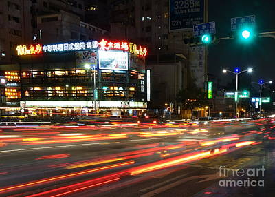 Photograph - Rush Hour Traffic In Downtown by Yali Shi