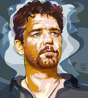 Russell Crowe Pop Art Portrait Original