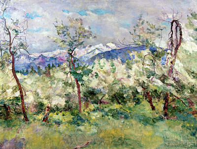 Painting - Russia, Altai, Cherry Trees By Vasily by Superstock