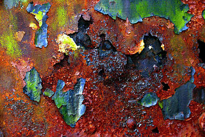 Photograph - Rust And Paint Can Make Art by Paul W Faust - Impressions of Light