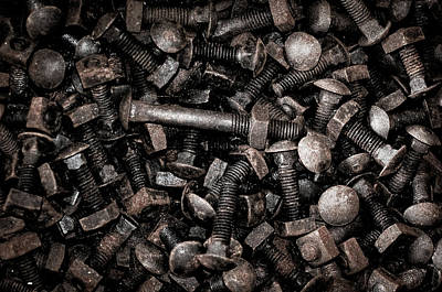 Photograph - Rusted Bolts by Dan Urban