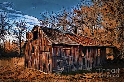 Painting - Rustic A18-41 by Ray Shrewsberry