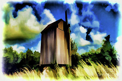 Painting - Rustic Abandoned Mill A18-95 by Ray Shrewsberry