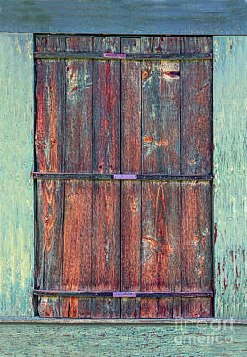 Photograph - Rustic Barn Wood Door by James BO Insogna