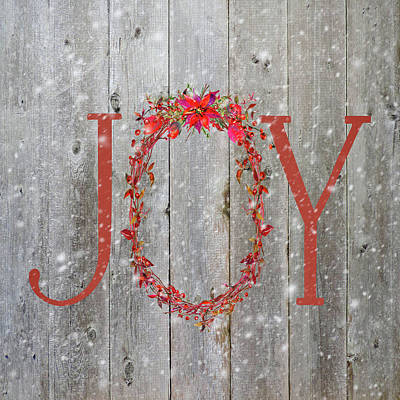 Digital Art - Rustic Christmas Joy by HH Photography of Florida