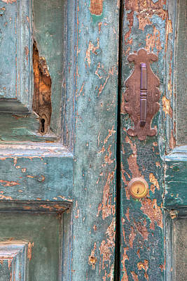 Photograph - Rustic Green Door Of Cortona by David Letts