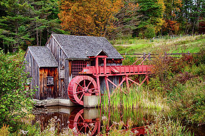 Photograph - Rustic Grist Mill In Guildhall Vermont by Jeff Folger