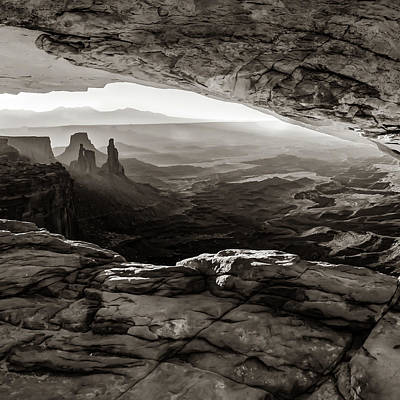 Landscapes Royalty-Free and Rights-Managed Images - Rustic Landscape of Canyonlands National Park - Sepia Edition by Gregory Ballos
