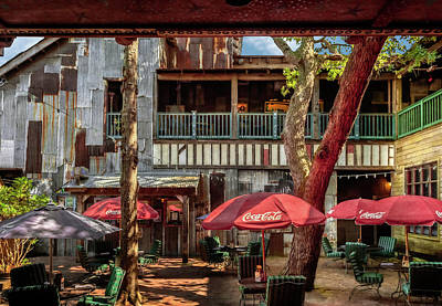 Photograph - Rustic Outdoor Dining Area by Frank J Benz