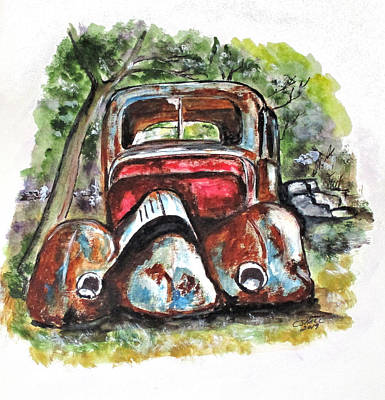 Painting - Rusting And Broken by Clyde J Kell