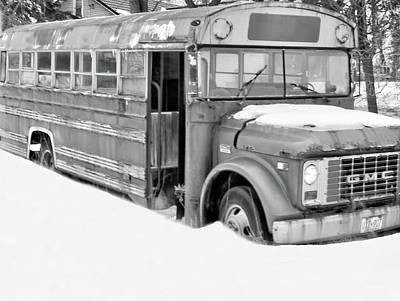 Photograph - Rusty And Crusty School Bus  by Nick Mares