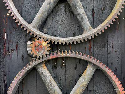 Photograph - Rusty Gears by Leland D Howard