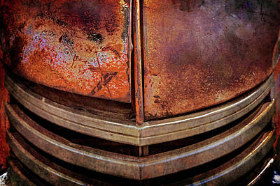 Photograph - Rusty Old Dodge Truck Grill by Teri Virbickis
