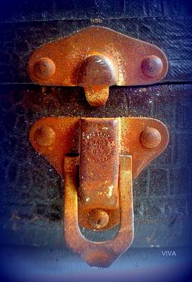 Photograph - Rusty Old Latch by VIVA Anderson
