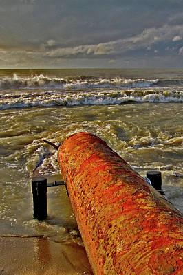 Rusty Pipe. Nature And Man. Original
