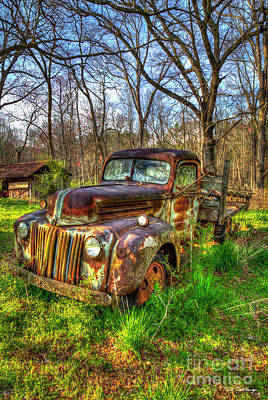 Photograph - Rusty Times 1947 Ford Stakebed Pickup Truck Art by Reid Callaway