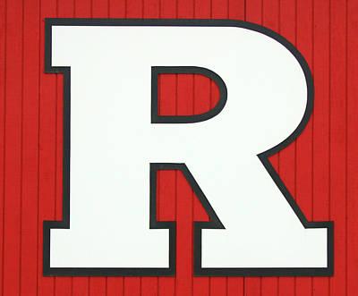 Photograph - Rutgers Block R # 3 by Allen Beatty