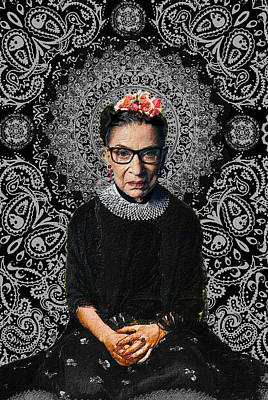 Painting - Ruth Bader Ginsburg Frida by Tony Rubino