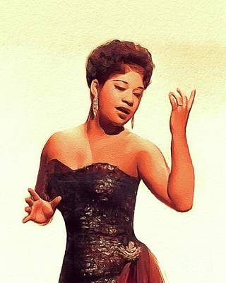 Music Paintings - Ruth Brown, Music Legend by Esoterica Art Agency