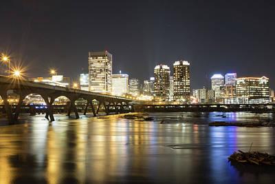 Photograph - Rva City Lights At Night by Doug Ash