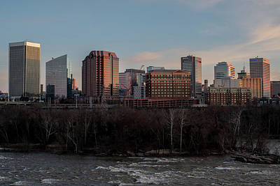 Photograph - Rva Cityscape From The Flood Wall by Doug Ash