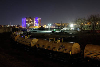 Photograph - Rva Train At Night by Doug Ash