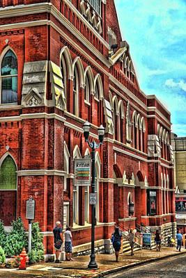 Photograph - Ryman Auditorium # 2 - Nashville by Allen Beatty