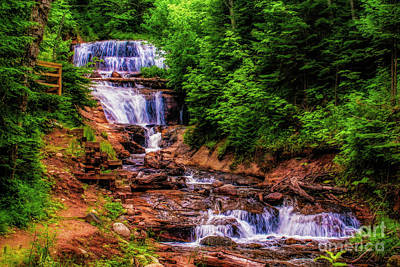 Photograph - Sable Falls In Michigan by Nick Zelinsky