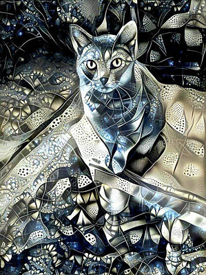 Digital Art - Sable On The Table by Peggy Collins