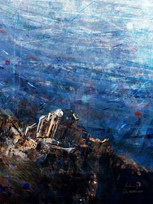 Surrealism Digital Art - Sacra SanMichele Aerial View by Andrea Gatti